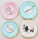 Set 4 piattini per torta PRETTY PASTEL ANIMAL