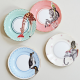 Set 4 piattini per torta CARNIVAL ANIMAL