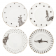 Set 4 piattini per torta MONOCHROME