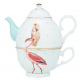 Set teiera + tazza PARROT AND FLAMINGO