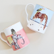 Set 2 mug CARNIVAL ELEPHANT AND GIRAFFE
